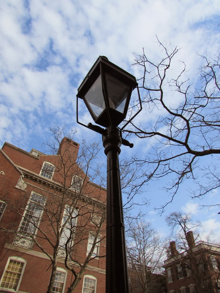 Lampost on Brown campus; photo by Zoe Rath