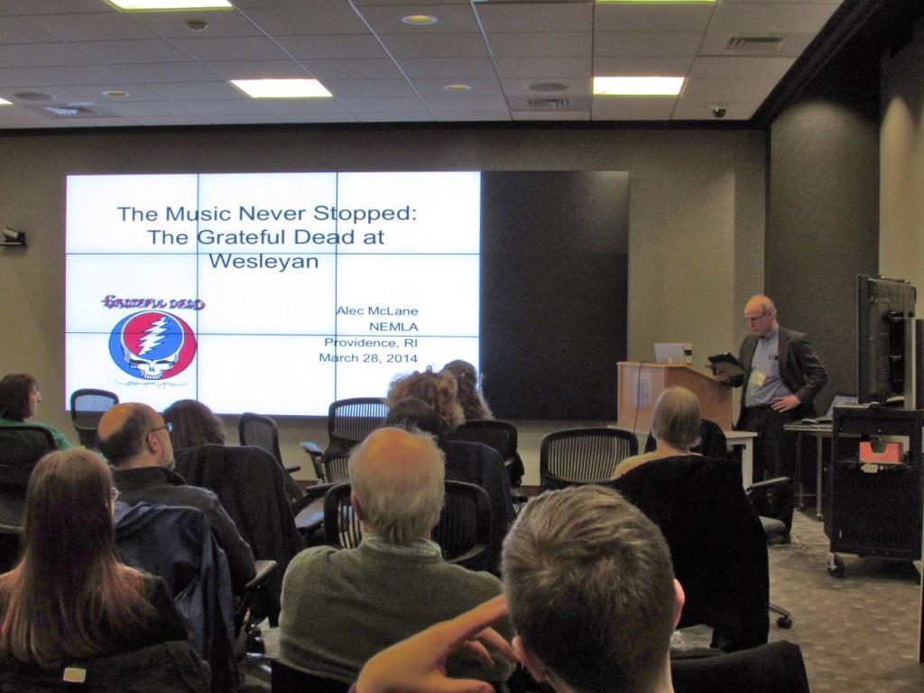 Alec McLane presenting at NEMLA
