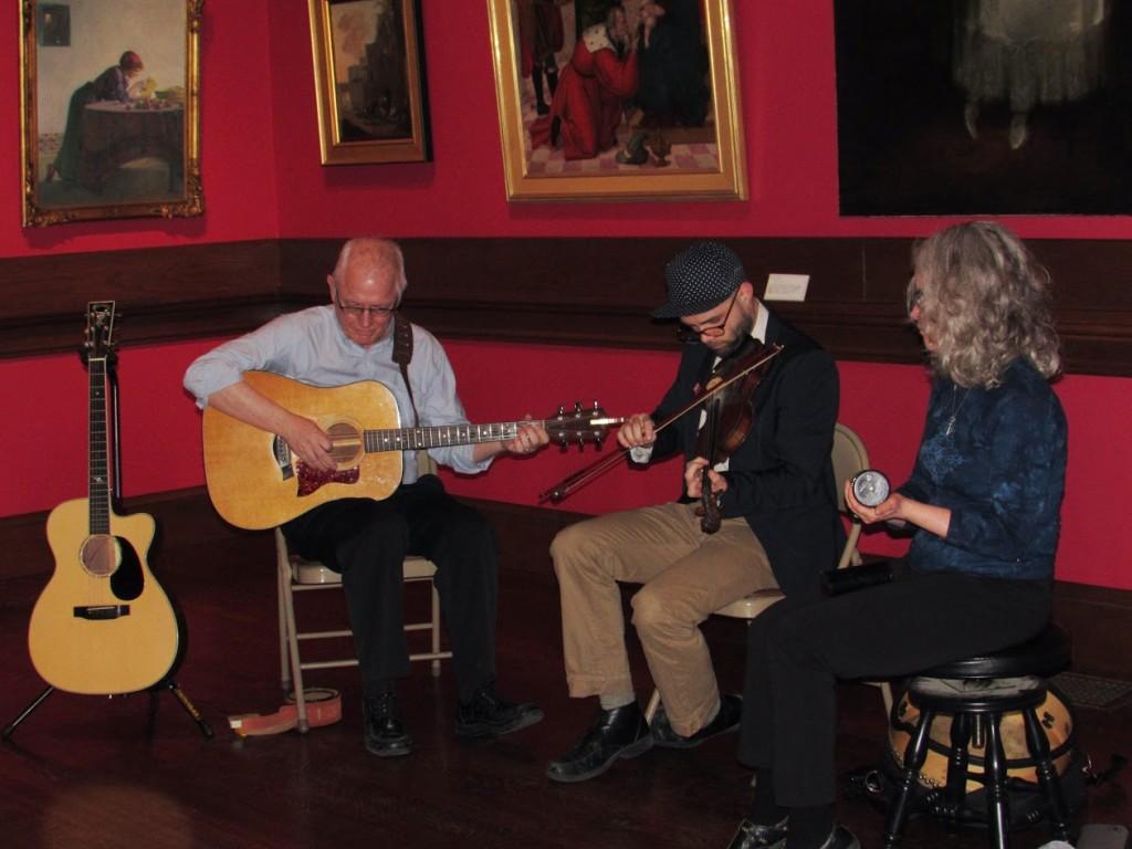 Musicians performing at NEMLA reception