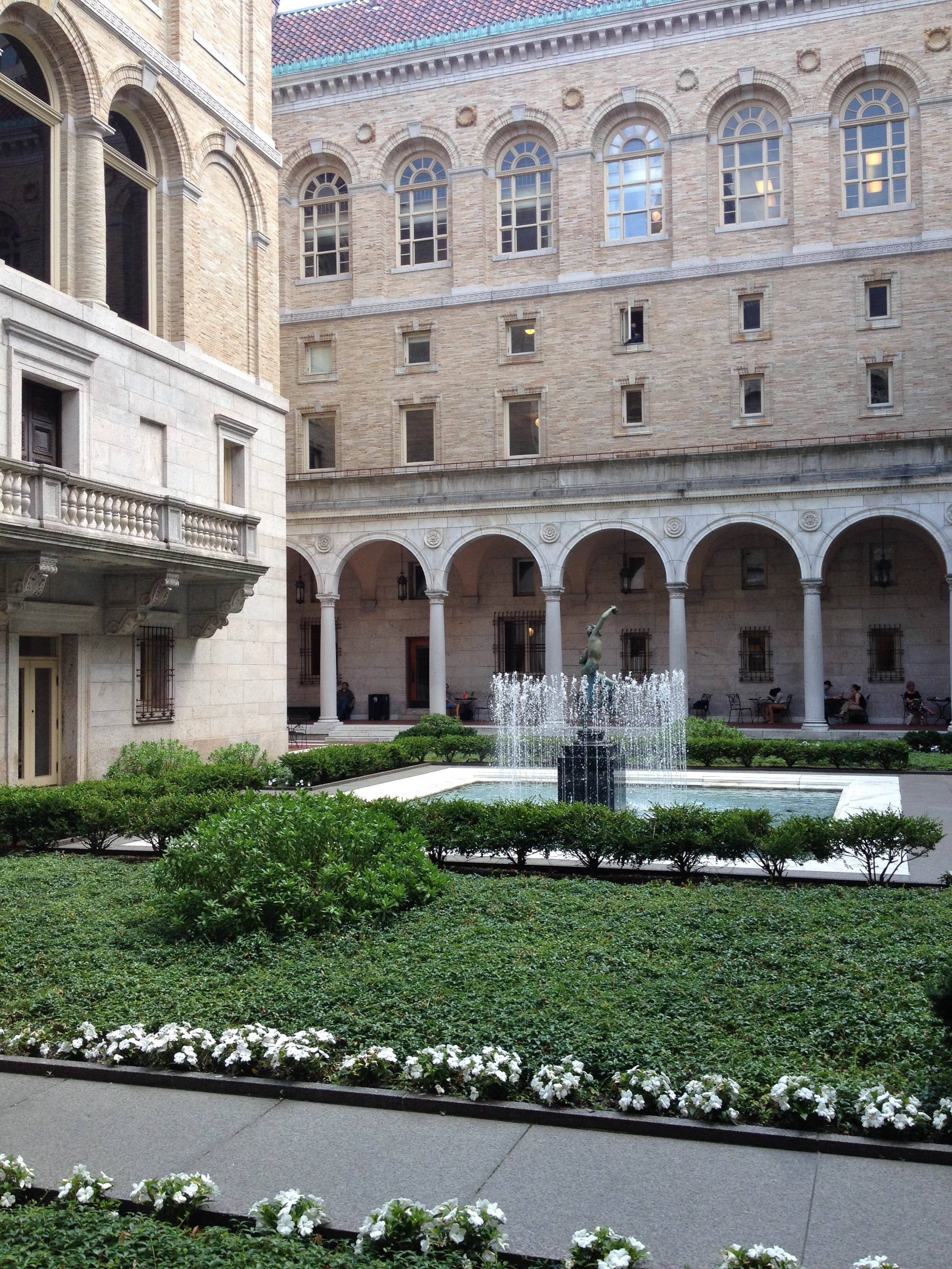 Boston Public Library; photo by Zoe Rath